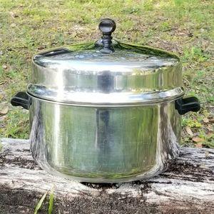 Vintage Farberware Stainless Steel 6 Qt Stock Pot